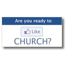 Like Church XLarge Postcard
