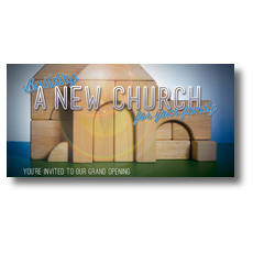 Church Building Blocks XLarge Postcard