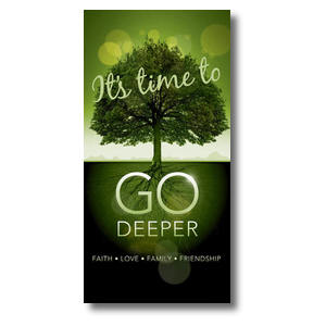 Go Deeper Time XLarge Postcards
