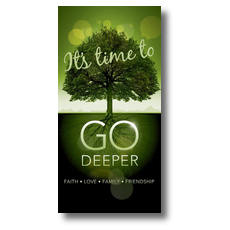 Go Deeper Time XLarge Postcard