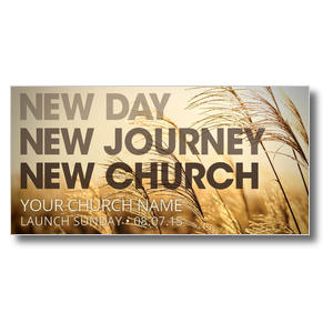 New Day New Church XLarge Postcards