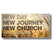 New Day New Church XLarge Postcard