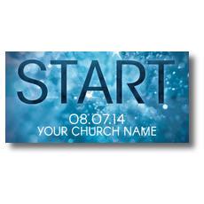 Start Blue XLarge Postcard