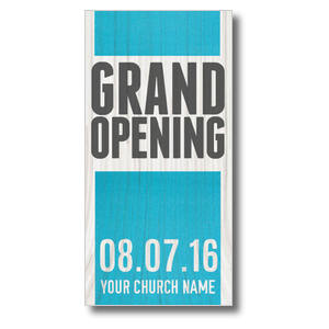 Grand Opening Wood XLarge Postcards