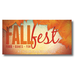 "Fall Fest Orange  11 x 5.5 Oversized Postcard 11"" x 5.5"" Oversized Postcards"
