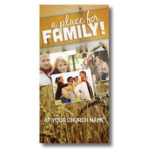 A Place for Family Fall Church Postcards