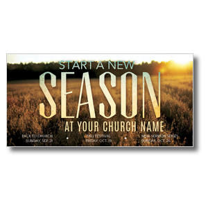 "New Season Fall  11 x 5.5 Oversized Postcard 11"" x 5.5"" Oversized Postcards"