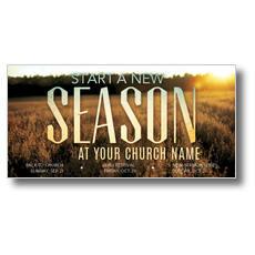 New Season Fall XLarge Postcard
