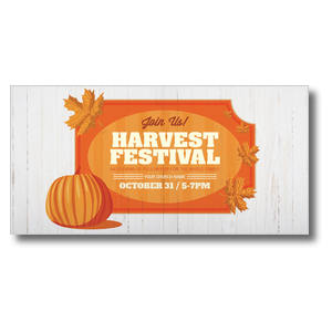 Join Us Harvest Festival XLarge Postcards