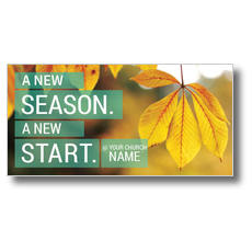 New Season New Start XLarge Postcard