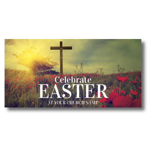 Celebrate Easter Cross Church Postcards