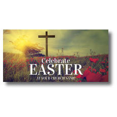 Celebrate Easter Cross XLarge Postcard