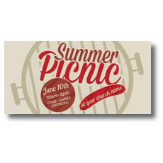 Summer Picnic XLarge Postcard