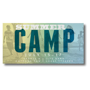 "Summer Camp  11 x 5.5 Oversized Postcard 11"" x 5.5"" Oversized Postcards"