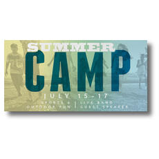 Summer Camp XLarge Postcard
