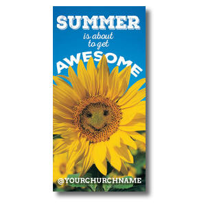 Summer is Awesome XLarge Postcards