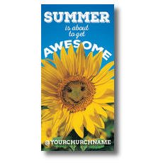 Summer is Awesome XLarge Postcard