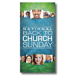 Back to Church Sunday 2015 XLarge Postcards