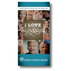 I Love Sundays XLarge Postcard