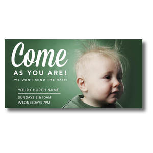 Baby Bed Head XLarge Postcards