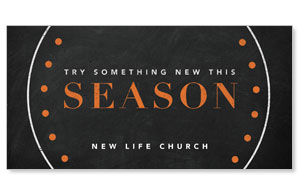 Season Dots Church Postcards