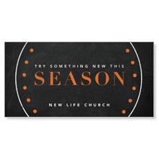 Season Dots XLarge Postcard
