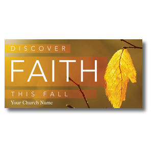 "Fall Discover Faith 11"" x 5.5"" Oversized Postcards"