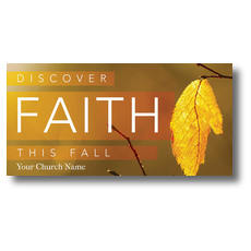 Fall Discover Faith XLarge Postcard