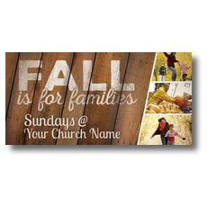 Fall Families XLarge Postcard