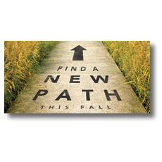 New Path XLarge Postcard