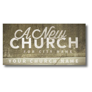 New City Church XLarge Postcards