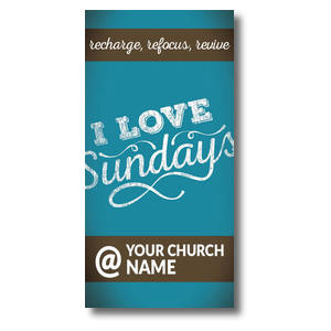 "I Love Sundays At XLarge Postcard 11"" x 5.5"" Oversized Postcards"
