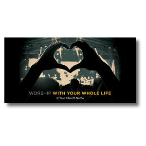 Worshiper Heart XLarge Postcards