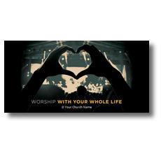 Worshiper Heart XLarge Postcard