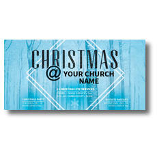 Blue Trees Christmas XLarge Postcard