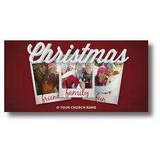 Christmas Snapshots XLarge Postcard