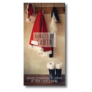 Hang It Up Santa XLarge Postcards
