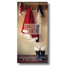 Hang It Up Santa XLarge Postcard