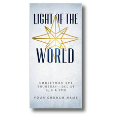 Light of the World Star XLarge Postcard