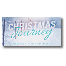 Snowy Journey XLarge Postcard