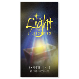"The Light of Christmas 11 x 5.5 Oversized Postcard 11"" x 5.5"" Oversized Postcards"