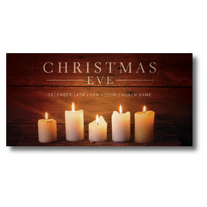 "White Candles 11"" x 5.5"" Oversized Postcards"