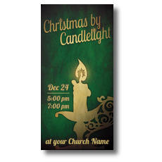 Christmas by Candlelight XLarge Postcard