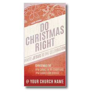 Do Christmas Right XLarge Postcards