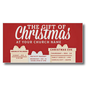 Gift of Christmas XLarge Postcards