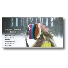 Happy Hat Christmas XLarge Postcard