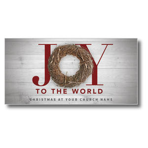 Joy Twig Wreath Church Postcards