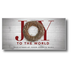 Joy Twig Wreath XLarge Postcard