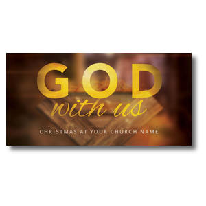 God With Us Manger XLarge Postcards
