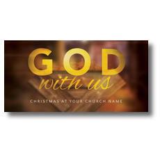 God With Us Manger XLarge Postcard